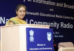 Ambika Soni Announces Community Radio Fund for India April 2011