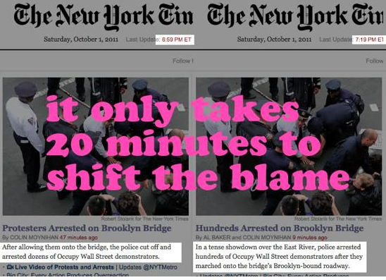 New York Times Changes the Blame