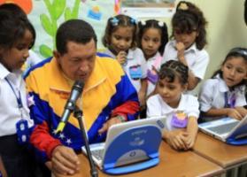 Chavez Trys Out Portuguese Lap Tops Sent to Venezuela