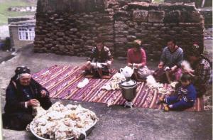 Women Carding Wool in Kurdistan