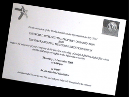 Invitation to Screening at WIPO
