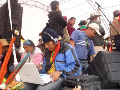 Communication Group on the Minga March from Cauca to Bogota in 2008