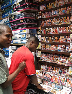 Selling DVDs of Nollywood Films: Photography by Will Connors from Esquire