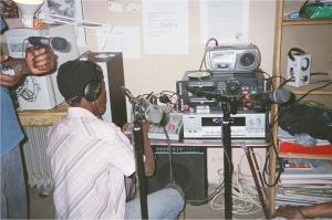 Equipment Set Up at Radio Rasa, ASoweto
