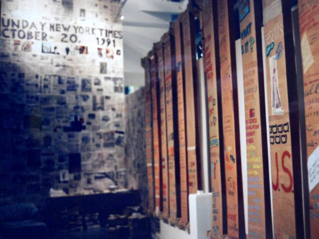 Rotating scrolls at the Wexner Museum during the Paper Tiger exhibition