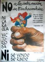 Nicaraguan Poster of Resistance to Superman Myths