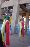 Stilt Dancers at the Nairobi Social Forum
